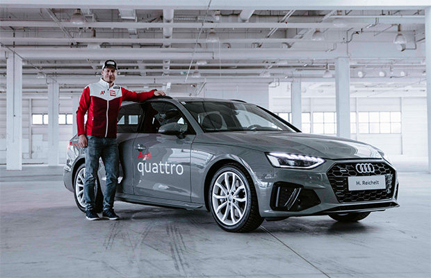 Hannes Reichelt bei der Audi-Übergabe in Salzburg. (Foto: © LOOP New Media GmbH)
