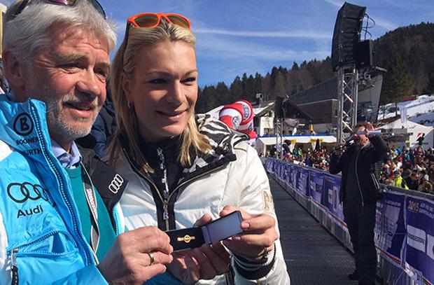 © Deutscher Skiverband: DSV-Ehrung für Maria Höfl-Riesch