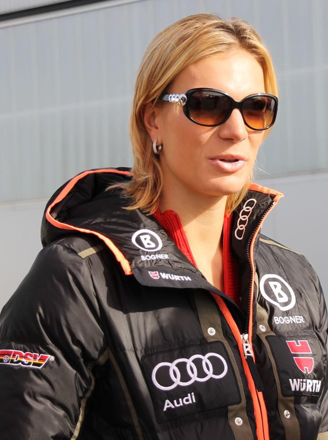 Gesamtweltcupsiegerin Maria Höfl-Riesch