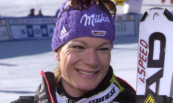 Maria Höfl-Riesch bei Vonn-Sieg in Garmisch-Partenkirchen (GER) auf Patz vier