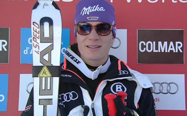 Höfl-Riesch bei Super-G in Cortina d'Ampezzo (ITA) Zweite hinter Vonn