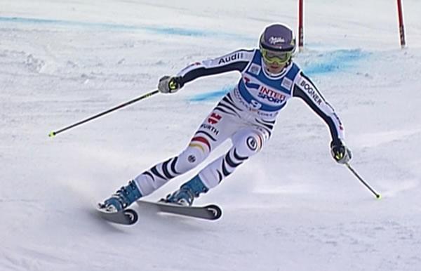 Maria Höfl-Riesch (SC Partenkirchen) freute sich als Sechste über ihr bestes Saison-Ergebnis in dieser Disziplin.