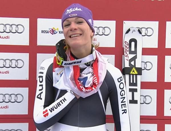 Maria Höfl-Riesch gewinnt Abfahrt der Damen in Sotschi