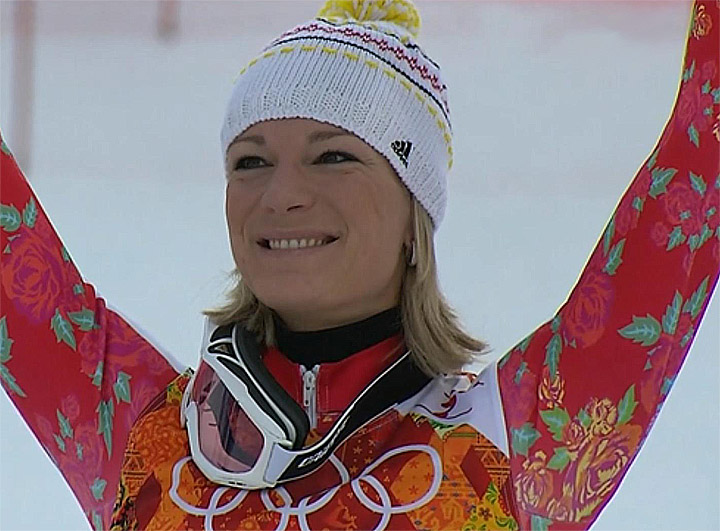 Olympiasiegerin in der Kombination: Maria Höfl-Riesch