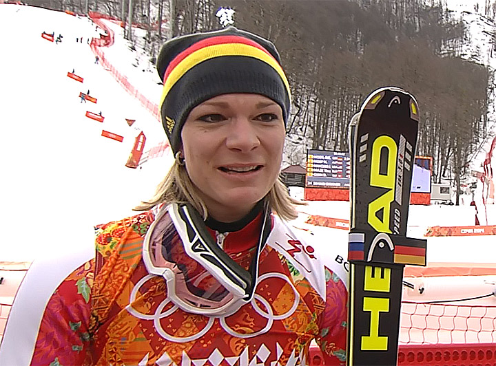 Olympiasiegerin Maria Höfl-Riesch (GER)