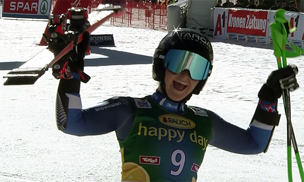Alice Robinson gewinnt Ski Weltcup Auftakt Riesenslalom in Sölden