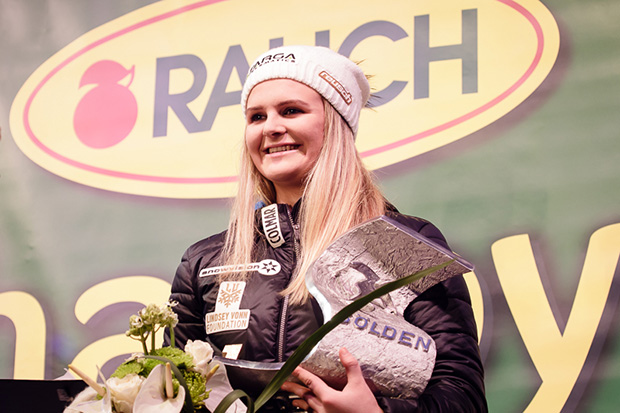 Alice Robinson setzt auf ein Südtiroler Unternehmen. (© Claudia Egger / Skiweltcup.TV)