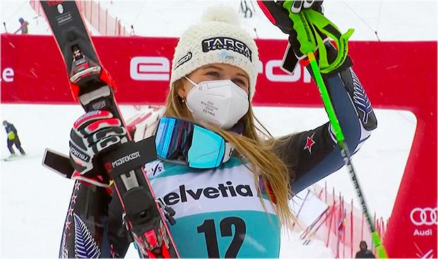 Alice Robinson gewinnt Riesenslalom beim Ski Weltcup Saison Finale in Lenzerheide