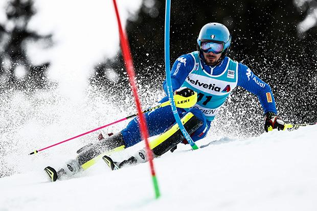 Tommaso Sala hat im 2. Europacup Slalom von Funesdalen die Nase vorn (© FISI, Gabriele Facciotti, Pentaphoto)