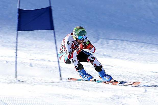 Markus Salcher, Speed-Weltcupsieger der vergangenen Saison, beim Super-G-Training. (Foto: ÖSV)