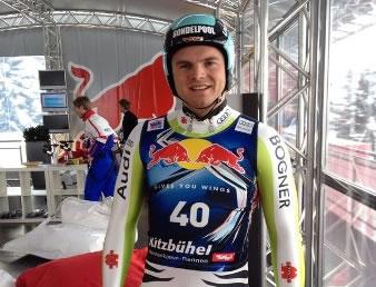 Andreas Sander vor dem Start auf der Streif