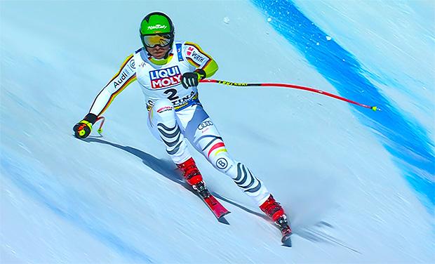 Andreas Sander auf dem Weg vom Vize-Weltmeistertitel 2021 in Cortina d'Ampezzo