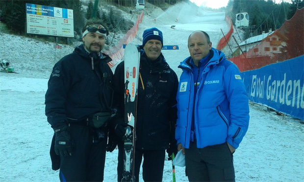 © saslong.org  / Chief of course Horst Demetz, FIS Advisor Helmuth Schmalzl, Chief of Race Rainer Senoner