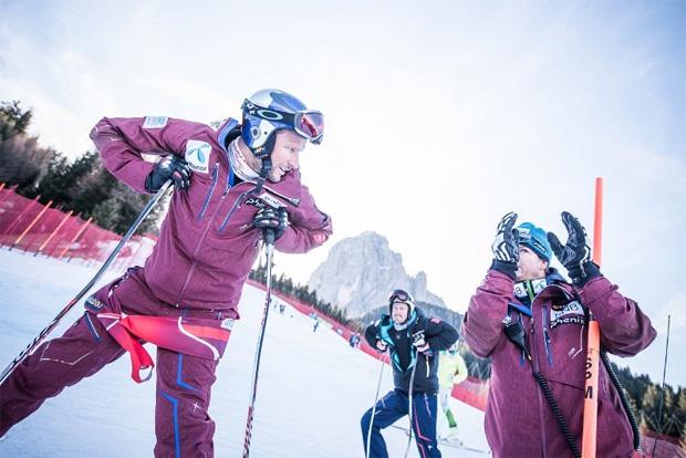 © saslong.org / Aksel Lund Svindal und Kjetil Jansrud bei der Inspektion der Schlüsselstellen