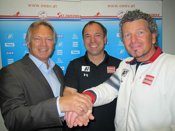 Hans Pum, Burkhard Schaffer und Mathias Berthold (v.li.) (Foto: ÖSV/Aichner)