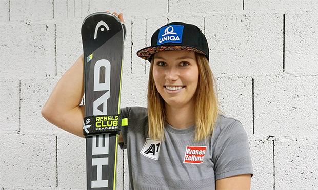 """Christine """"Christl"""" Scheyer im Skiweltcup.TV-Interview: """"An die Rennen in Lake Louise denke ich noch nicht!"""" (Foto: © HEAD)"""