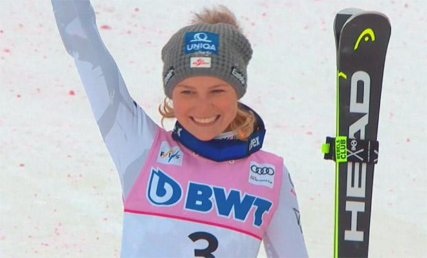 Im letzten Jahr konnte sich Bernadette Schild über Platz drei im Killington-Slalom freuen.