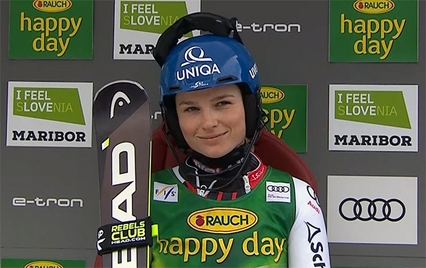 Bernadette Schild Sechste beim Slalom von Maribor  / Marburg