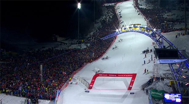 Das Slalom Nightrace in Schladming live im TV