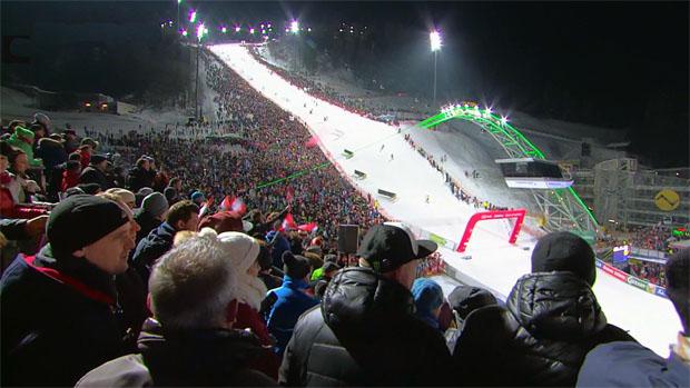 Der meistgesehene Bewerb der vergangenen Saison war einmal mehr der Slalom der Herren in Schladming mit 1,664 Millionen Zuseherinnen und Zusehern