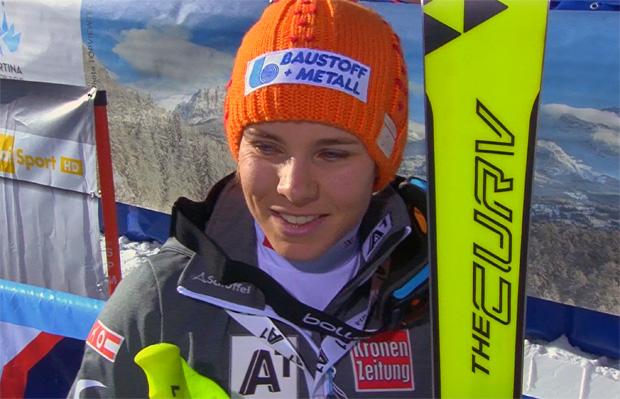 Schmidhofer in Cortina dem Podest am nächsten