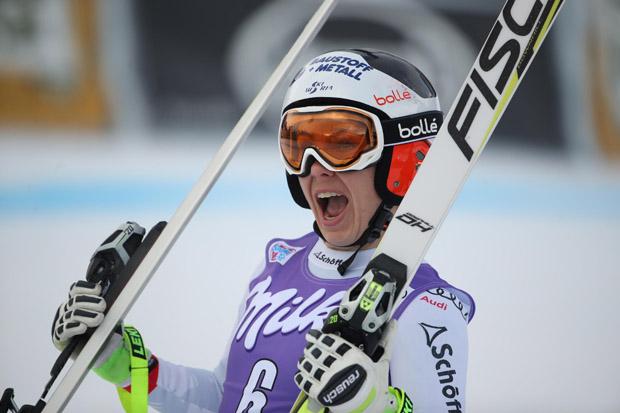 Schmidhofer schaffte es in Lake Louise und in Cortina d'Ampezzo jeweils als Dritte auf das Weltcup-Podest (Foto: gepa-pictures/ Fischer)