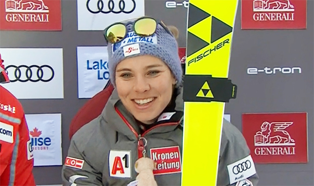 Nicole Schmidhofer gewinnt erste Abfahrt von Lake Louise am Freitag