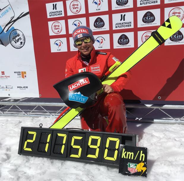 Nici Schmidhofer pulverisiert Rekord erneut mit 217,590 km/h (Foto: ÖSV)