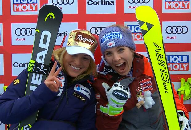 Lara Gut und Nicole Schmidhofer