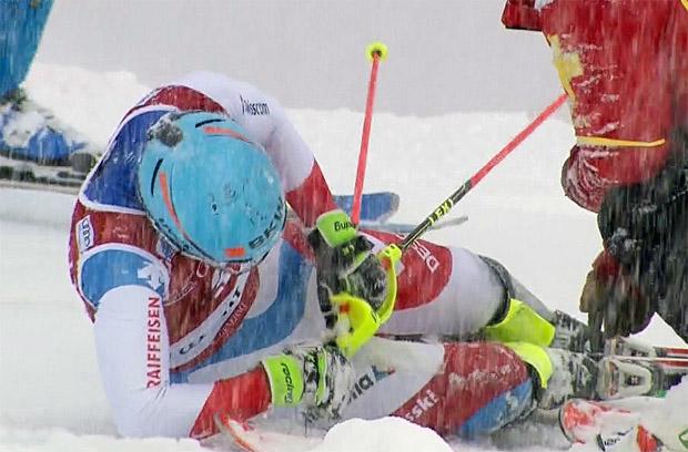 Swiss-Ski-News: Reto Schmidiger in Val d'Isère gestürzt