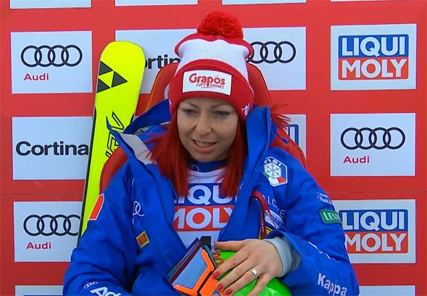 Hanna Schnarf und das Podest-Glücksgefühl von Cortina