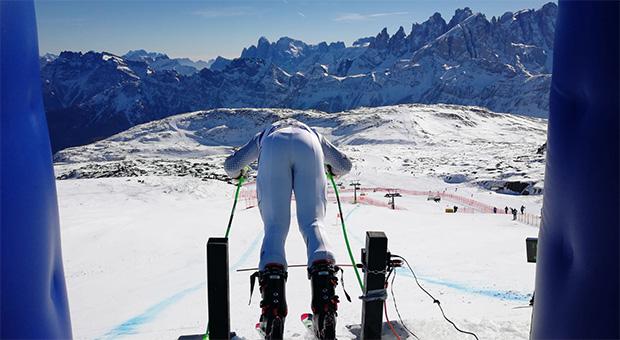 Jacob Schramm bei der Junioren-Ski-WM 2019 im Fassatal.