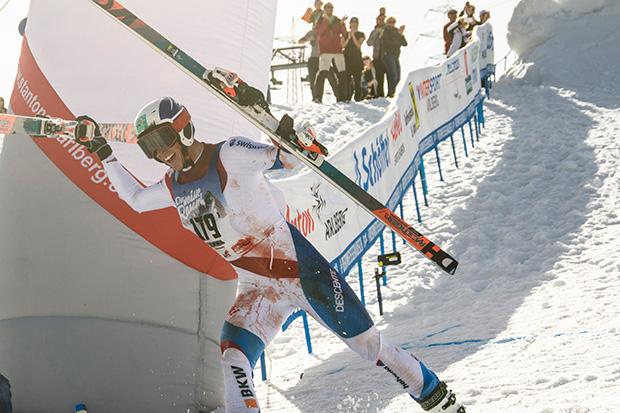 """Der Tiroler Dominik Schranz siegte bei der 22. Auflage des Kultrennens """"Der Weisse Rausch"""". (© Säly Photography)"""
