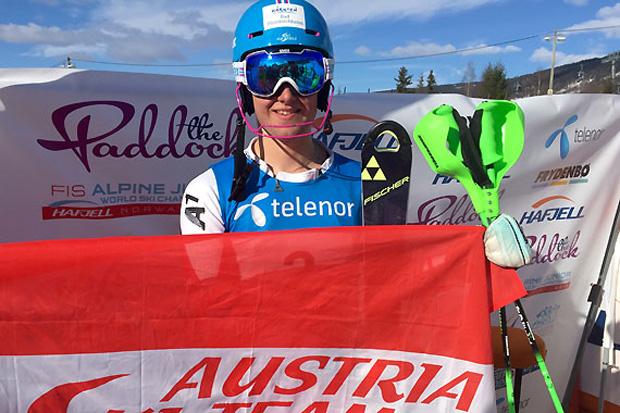 Marco Schwarz durfte sich dank Laufbestzeit im zweiten Durchgang noch über die Silbermedaille freuen. (Fotos: ÖSV)