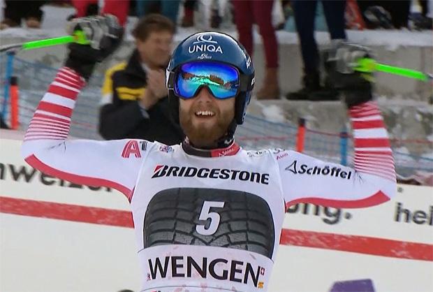 Marco Schwarz zeigte heute eine sehr gute Abfahrt und hat hochverdient gewonnen.