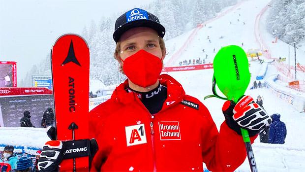 Marco Schwarz holt Slalom-Kristall in Kranjska Gora (Foto: © Markus Aichner / ÖSV)