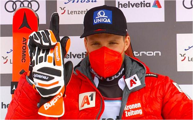 Marco Schwarz übernimmt Führung beim Slalom in Lenzerheide