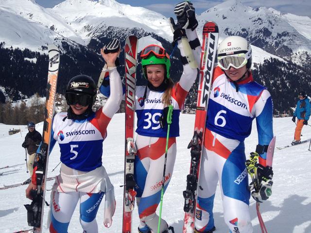 © swiss-ski.ch  /  Überraschungssieg bei den Frauen: die NLZ-Athletin Noemi Rüsch wird vor Lara Gut und Fabienne Suter Schweizermeisterin im Riesenslalom.