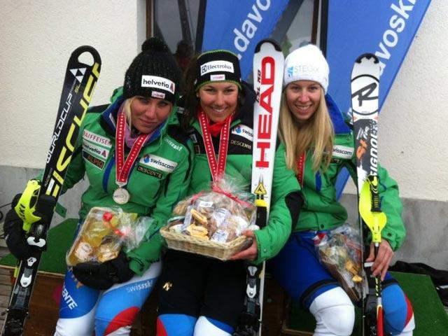 © swiss-ski.ch / Im Slalom gewinnt Wendy Holdener vor Jasmin Rothmund und Margaux Givel.
