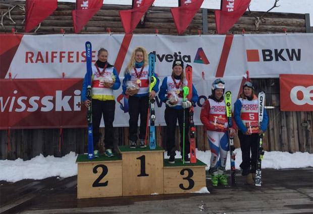 Die 18-Jährige Vivianne Härri setzte sich vor Natalie Hauswirth durch. Rang drei ging an Chiara Bissig aus Grafenort. (Foto: Swiss-Ski.ch)