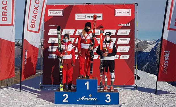 Riesenslalom-Gold an Vivianne Härri, Silber Simone Wild, Bronze Lorina Zelger (Foto: © Swiss-Ski.ch)