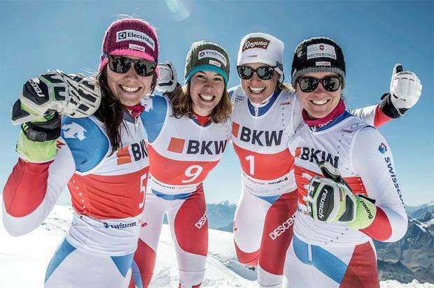 Wendy Holdener, Michelle Gisin, Lara Gut und Fabienne Suter (Foto: Swiss-Ski)