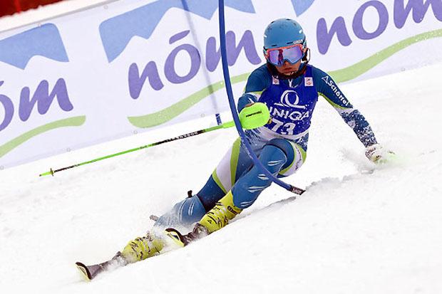 Der Steirer Ralph Seidler aus der U14-Klasse setzte sich im Slalom durch. (Foto: Peter Lintner)