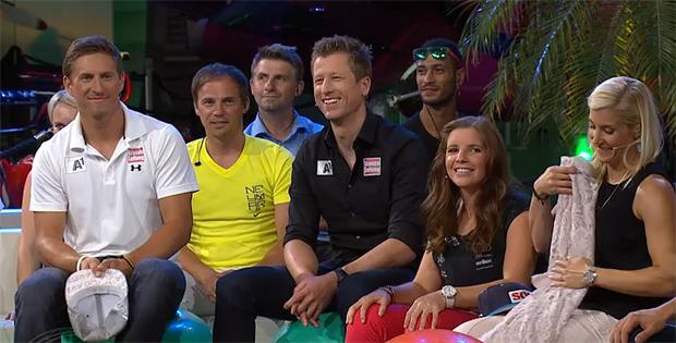 © Servus TV / Max Franz, Hannes Reichelt, Tina Weirather, Eva Maria Brem