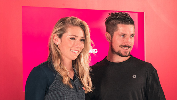 Mikaela Shiffrin und Marcel Hirscher beim Atomic Media Day 2019