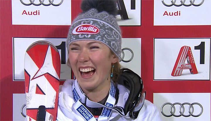Mikaela Shiffrin (USA) hat gut lachen