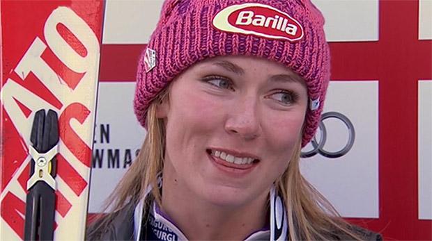 Die amtierenden Weltmeisterin und Olympiasiegerin Mikaela Shiffrin