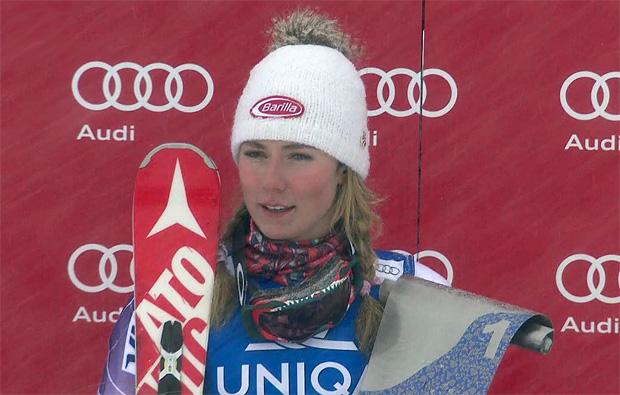 Mikaela Shiffrin behält beim Slalom in Kühtai den Durchblick