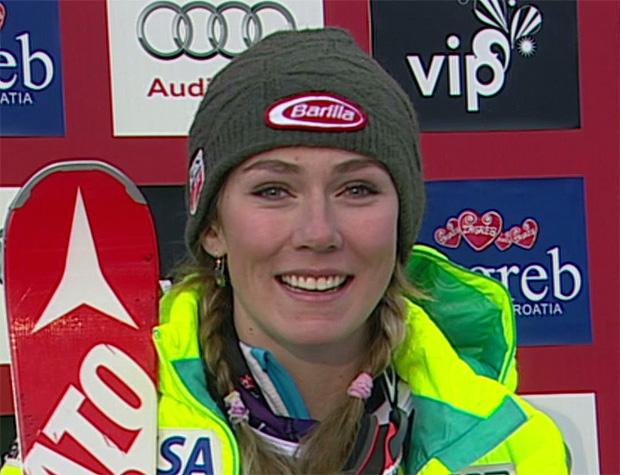 Bärenstarke Mikaela Shiffrin führt nach dem 1. Durchgang beim Slalom in Zagreb
