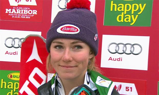 Mikaela Shiffrin dominiert ersten Slalomdurchgang in Maribor